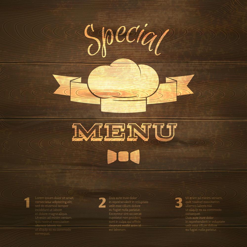 菜单木板背景图片图片