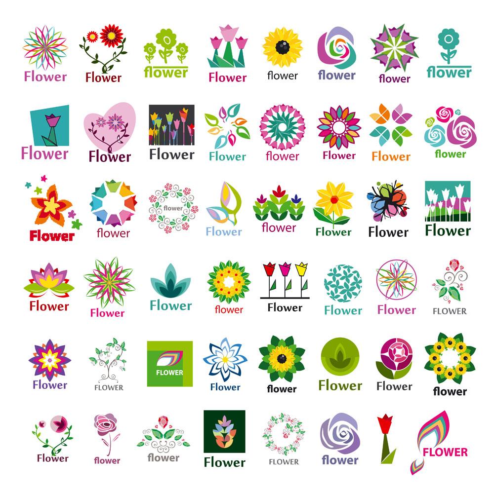 创意logo图形,标志设计,商标设计,公司logo,企业logo,鲜花logo,行业标图片
