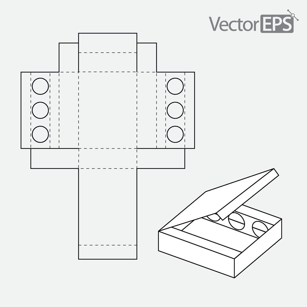 包装盒子平面展开图_包装盒展开平面图矢量素材下载(图片ID:420847)_-其他-矢量素材_ 集 ...