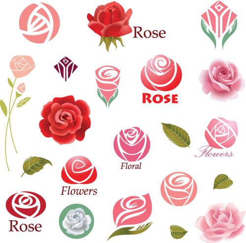 玫瑰花logo设计图片下载,玫瑰花朵logo,鲜花logo,花卉logo图形,创意图片