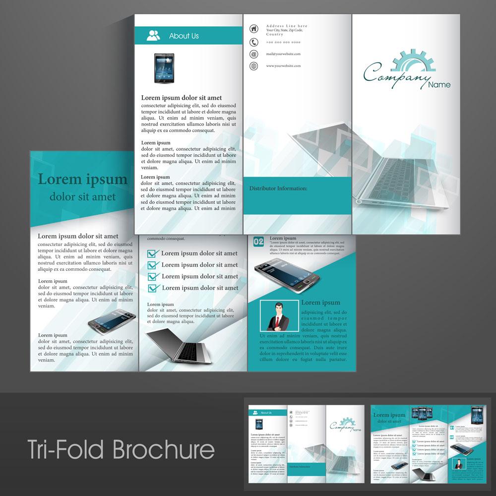 广告设计 折页|传单 电子产品折页,智能手机,笔记本,三折页排版,单页图片
