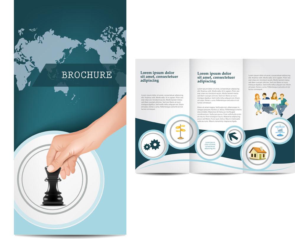 画册设计 动感圆形,三折页排版,单页排版,宣传折页排版,排版设计,时尚图片