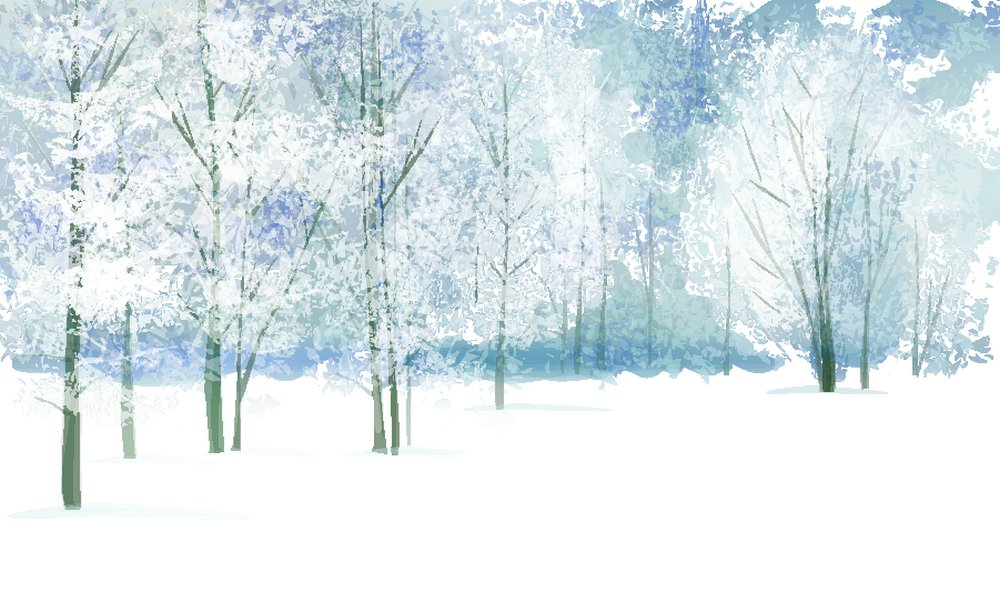 卡通树林,雪地风景,美丽雪景,冬天雪景,冬季风景,圣诞节背景,卡通风景图片