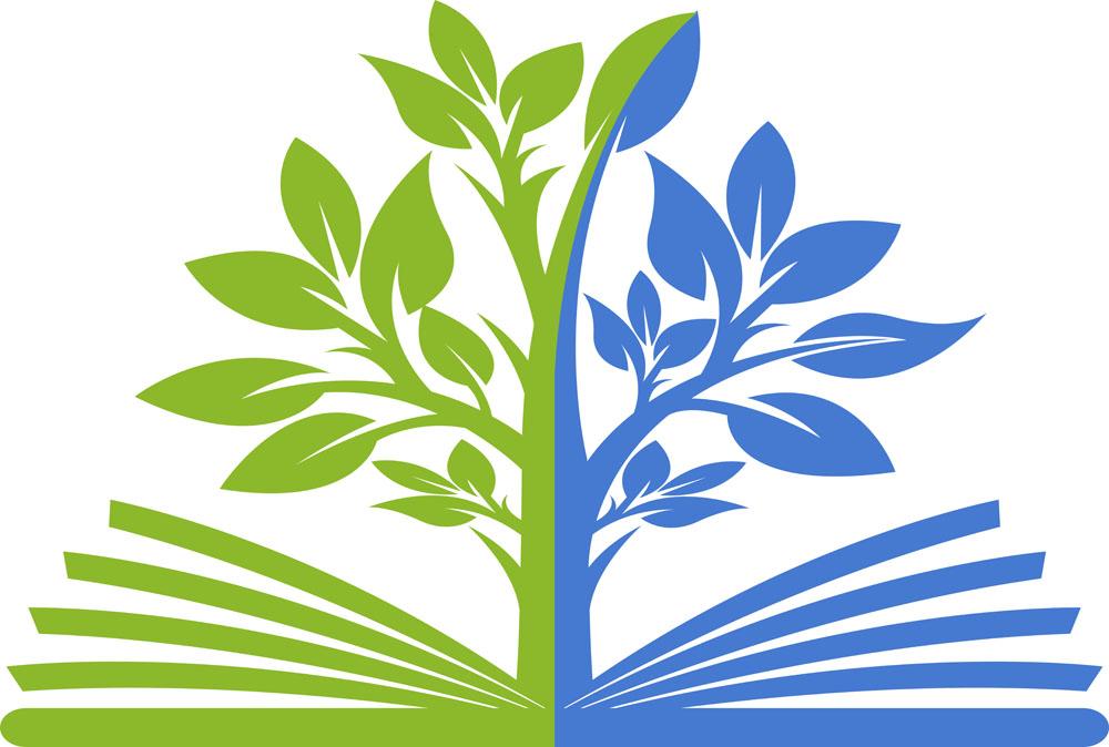 矢量素材 标志图标 行业标志 卡通树,书本,学习教育logo设计,创意logo图片
