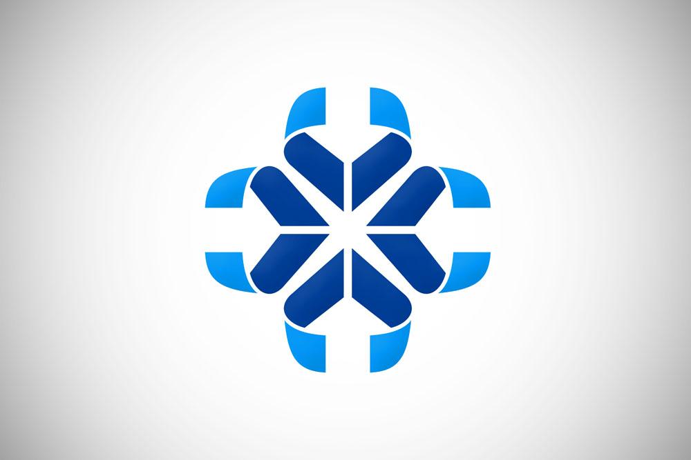 logo_创意丝带花朵logo设计图片