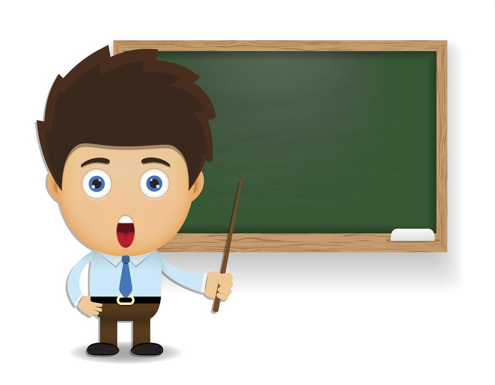 讲课的卡通老师矢量素材下载 卡通形象 矢量人物 矢量素材 集图网 Www Jitu5 Com