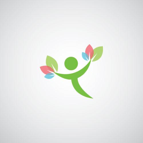 标志图标 行业标志 绿色环保logo,花朵logo设计,鲜花logo设计,创意图片
