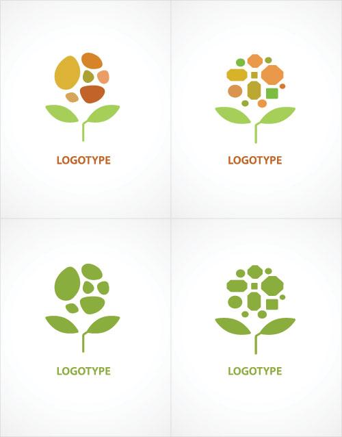 集图网 矢量素材 标志图标 行业标志 花朵logo设计,鲜花logo设计,创意图片