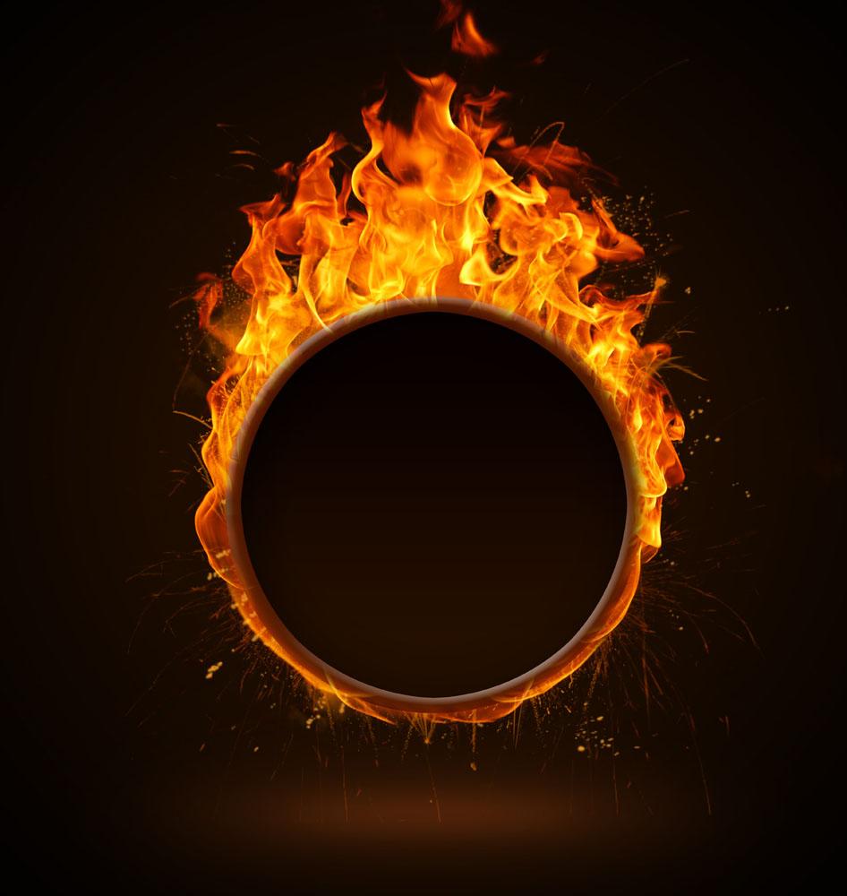 燃烧的火圈图片
