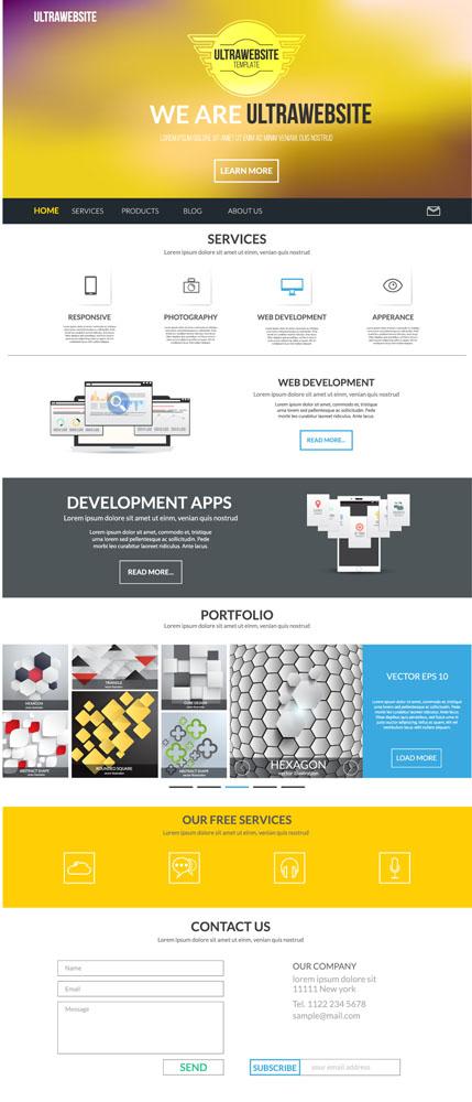 网页界面设计,网站设计,网站模板,按钮图标,时尚网页,留言板,其他模板图片