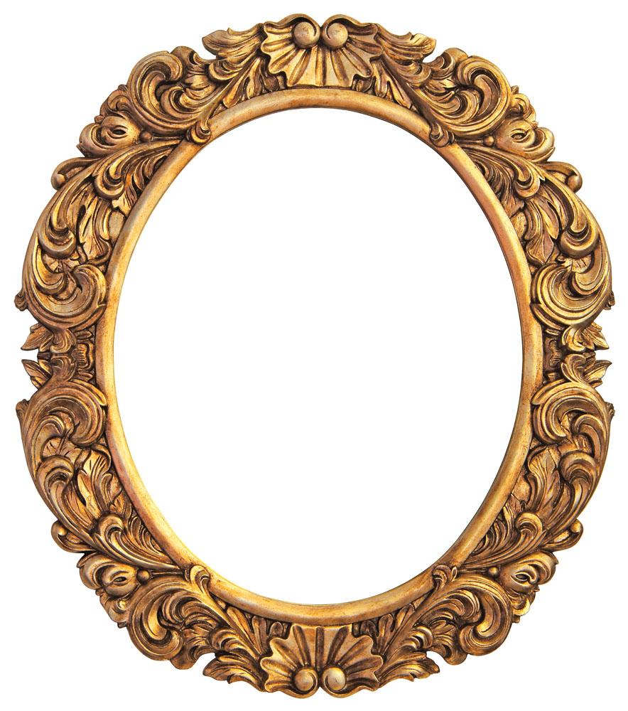 欧式椭圆形画框 图片素材下载-边框相框-背景花边