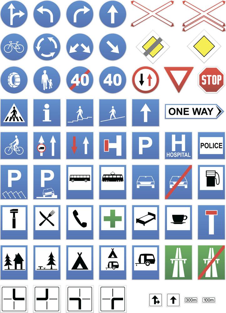 公路标识牌图片