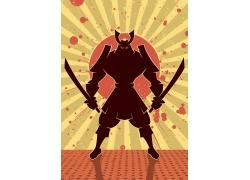 日本剑道古典美女_男性男人-矢量人物-矢量素材 - 集图网 www.jituwang.com