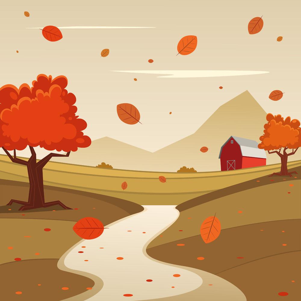 秋天卡通风景图片素材图片展示图片