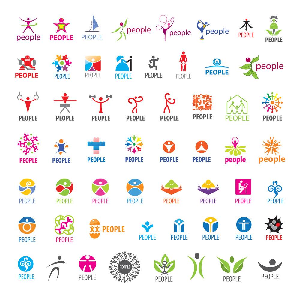 集图网 矢量素材 标志图标 行业标志 健身logo设计,创意logo图形,标志图片