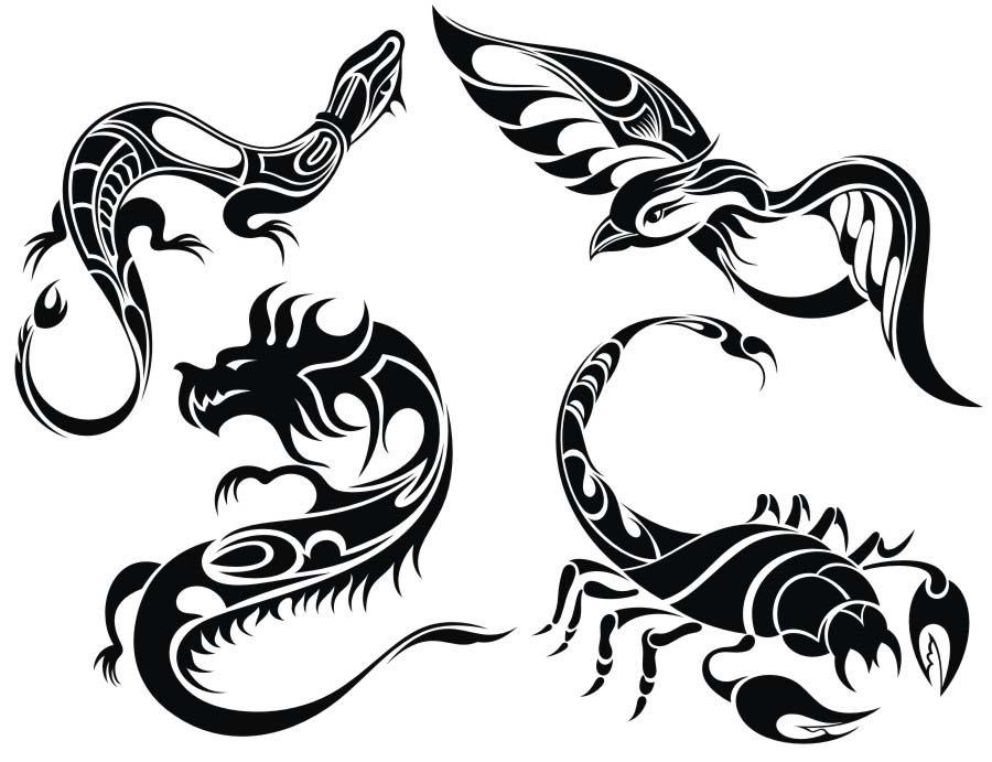 纹身i图案_男士纹身小图案