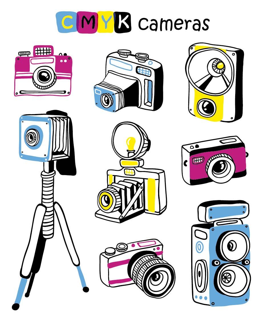 卡通照相机图片