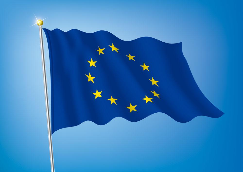 矢量素材 广告设计 vi设计 欧盟旗帜,欧盟旗帜,旗帜,飘扬的国旗,飘扬图片