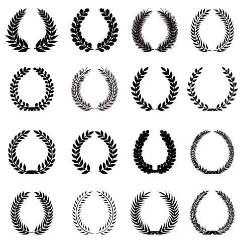 环�y.㹢$y`f�-m��b���9��_集图网 矢量素材 标志图标 徽标徽章标帖 月桂枝,月桂枝环,月桂树枝
