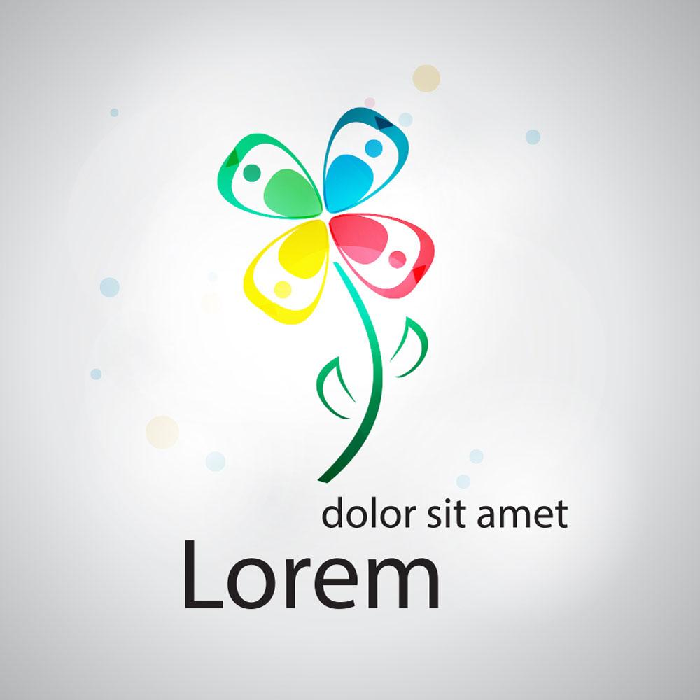卡通鲜花logo设计图片图片
