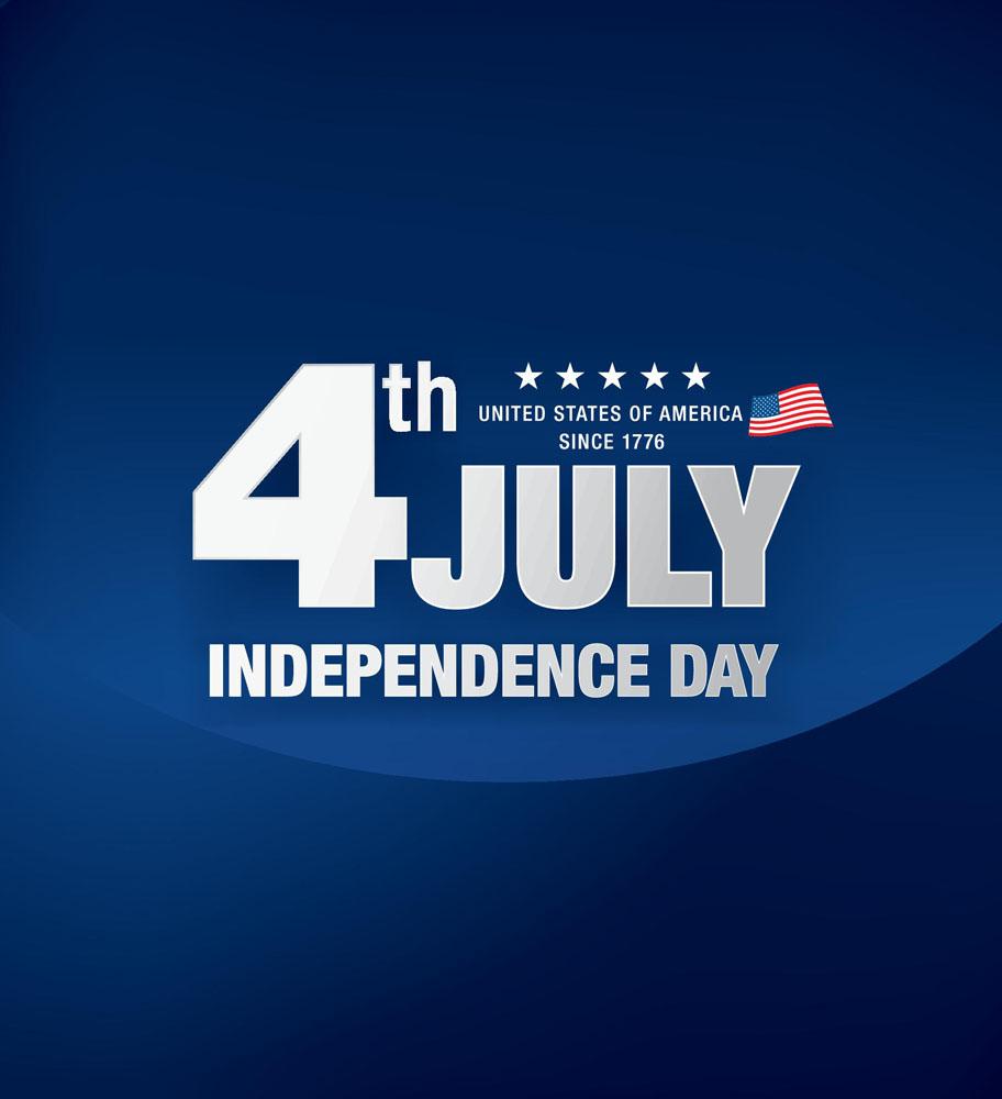 好看的日�y��9�d9�%��a_蓝色美国独立日海报图片
