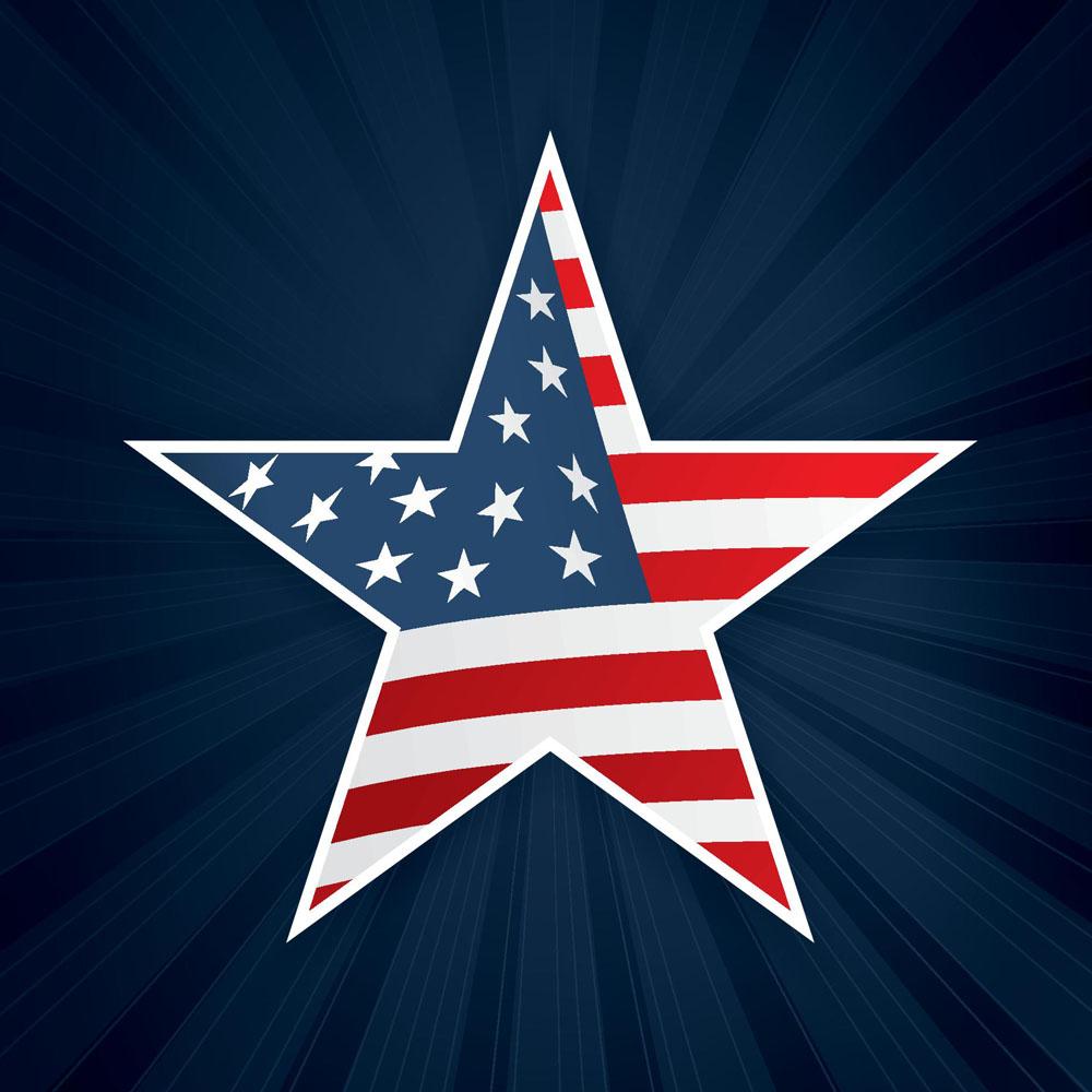 美国�yn���L�ؘ_五角星美国国旗图片