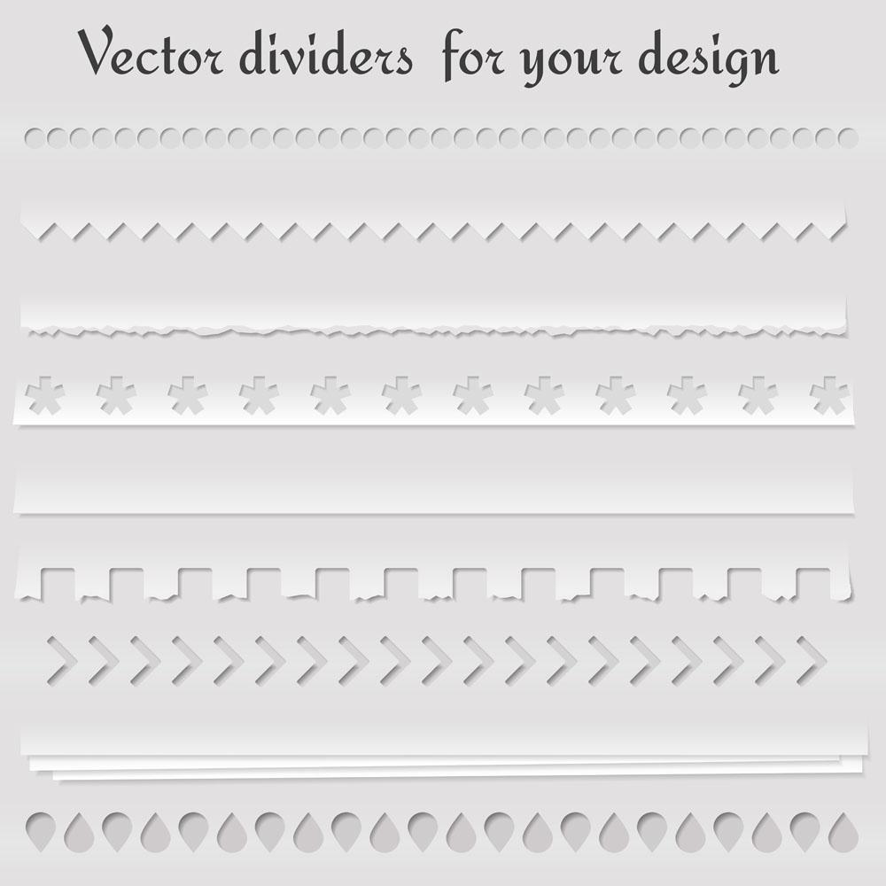 撕纸边框花边矢量素材下载-其他模板-广告设计-矢量