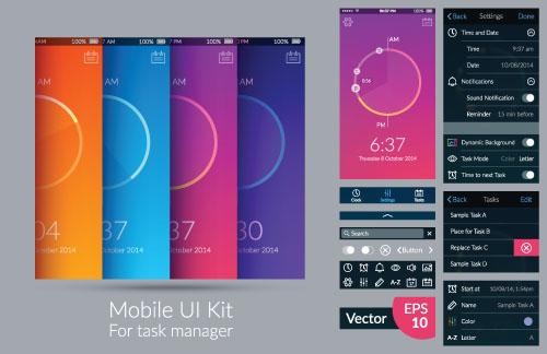 时尚手机UI界面设计图片素材下载(自然ID:矢量风格在中国室内设计的v图片图片