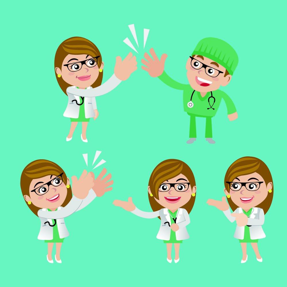 高兴的医生表情设计模板下载,医生,护士,男医生,女医生,人物,卡通人物图片