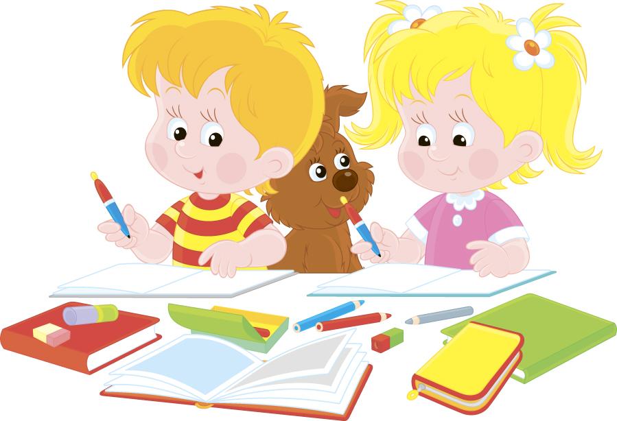 作业,课本,学校教育,卡通小男孩,卡通小女孩,小朋友,学习的学生,,儿童图片