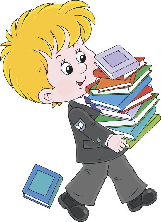 形象 抱着一堆书的学生图片下载,学校教育,卡通小男孩,书本,小朋友图片