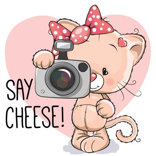 矢量人物 卡通形象 拍照的卡通小熊图片下载,拍照,照相机,卡通小熊