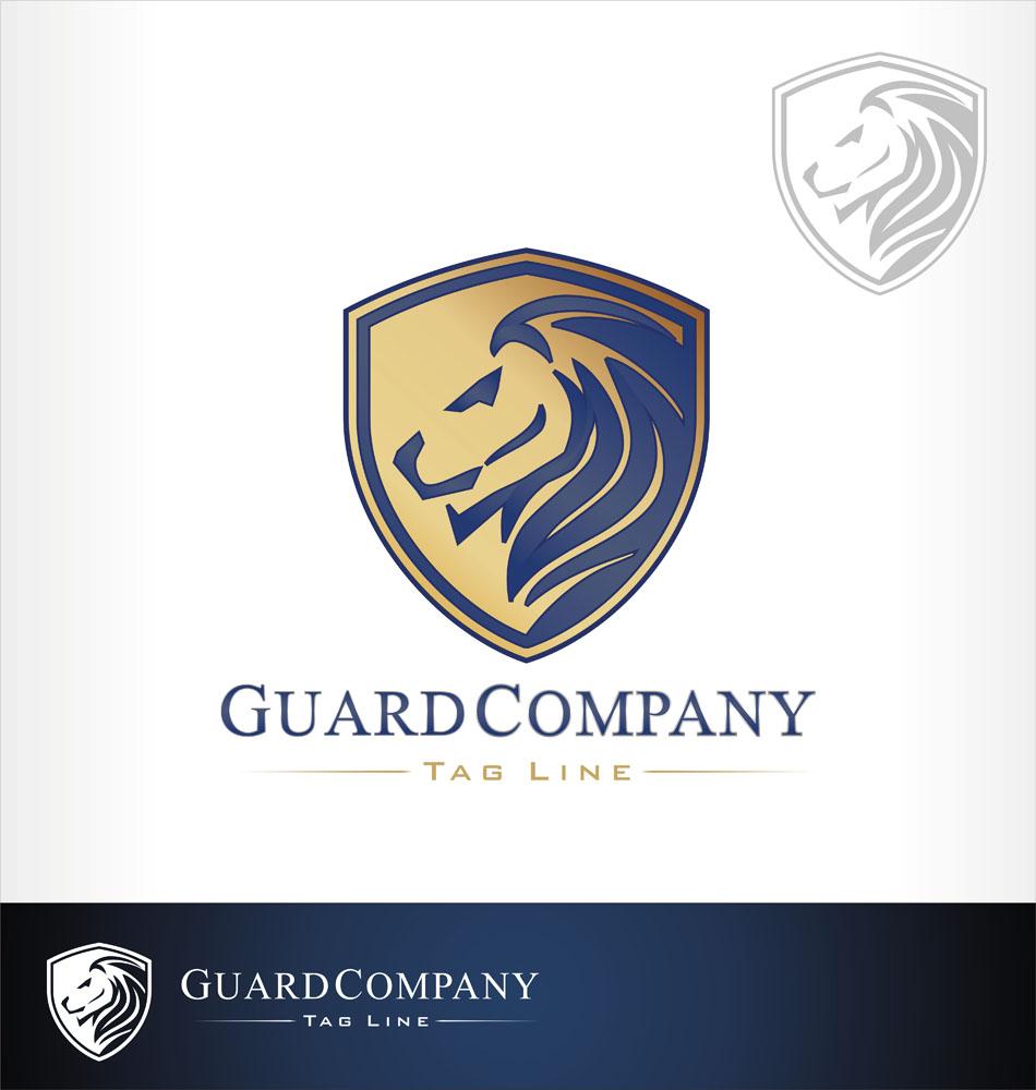 狮子盾牌logo设计矢量素材下载-行业标志-标志图标