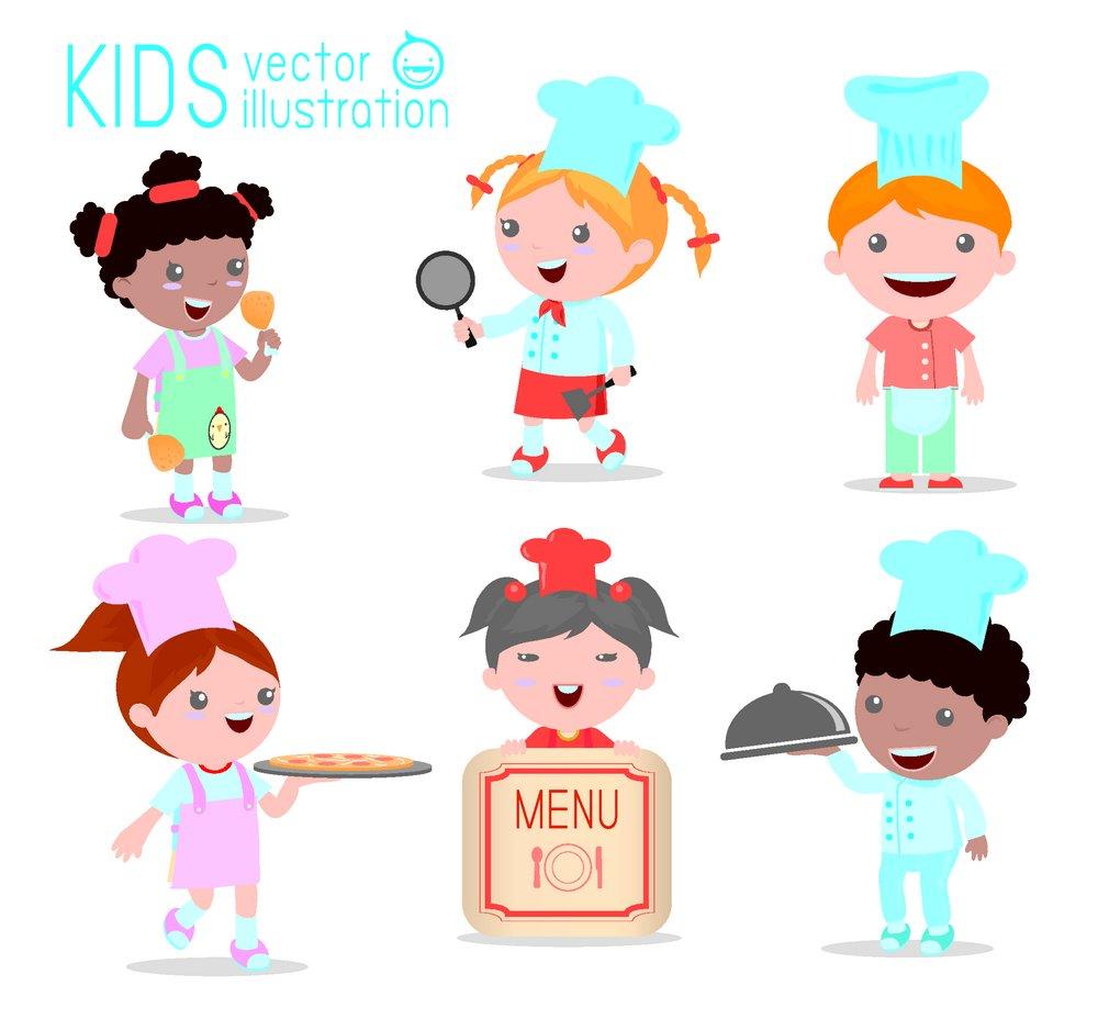 卡通女孩厨师图片图片