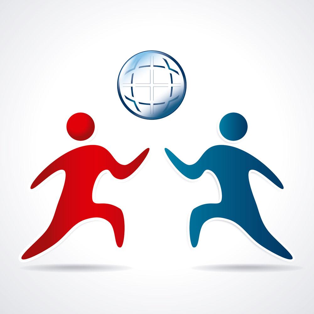 集图网 矢量素材 标志图标 行业标志 运动人物球形标志图片下载,运动图片