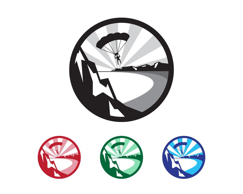 跳伞运动标志矢量素材下载-行业标志-标志图标-矢量图片