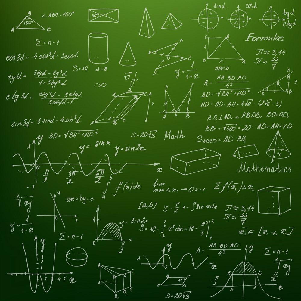 黑板上的数学公式图片图片