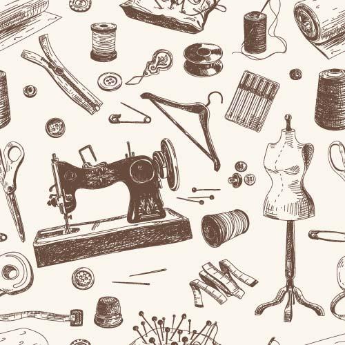 裁缝工具背景图片