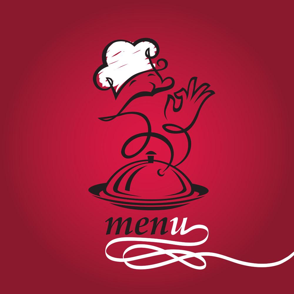手绘托盘厨师食谱菜单名幼儿园图片