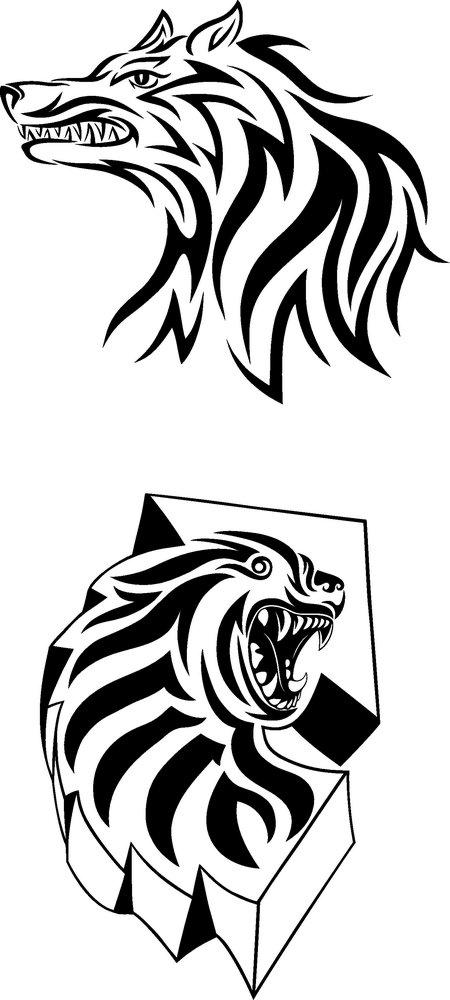 集图网 矢量素材 文化艺术 其他艺术 老虎刺青纹身模板下载,纹身图案