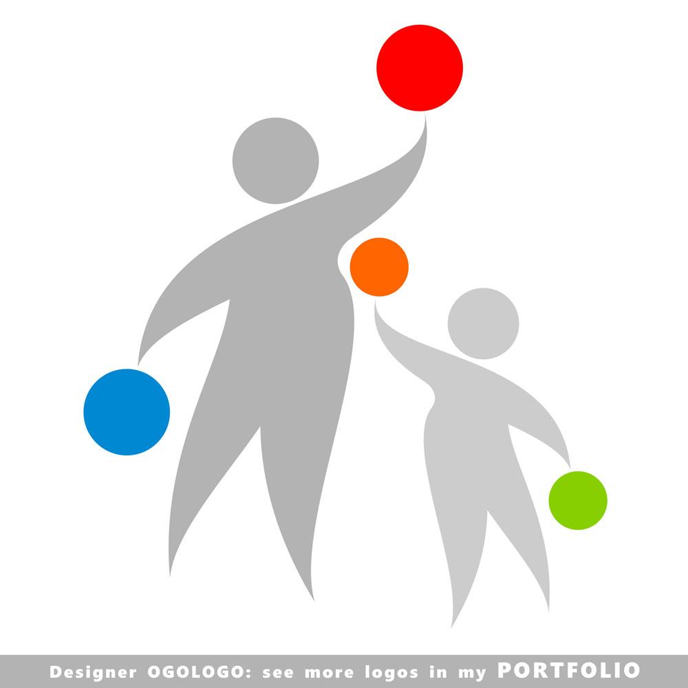 运动人物球形标志矢量素材下载-行业标志-标志图标图片