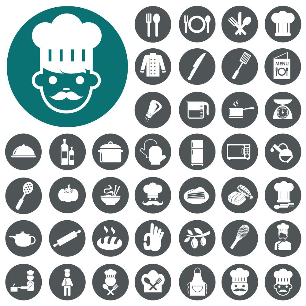 烹饪美食图标图片图片
