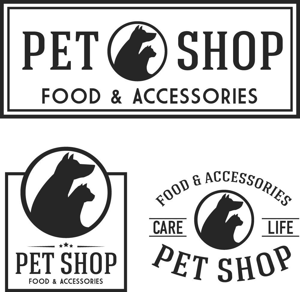 黑色动物头像logo设计图片图片