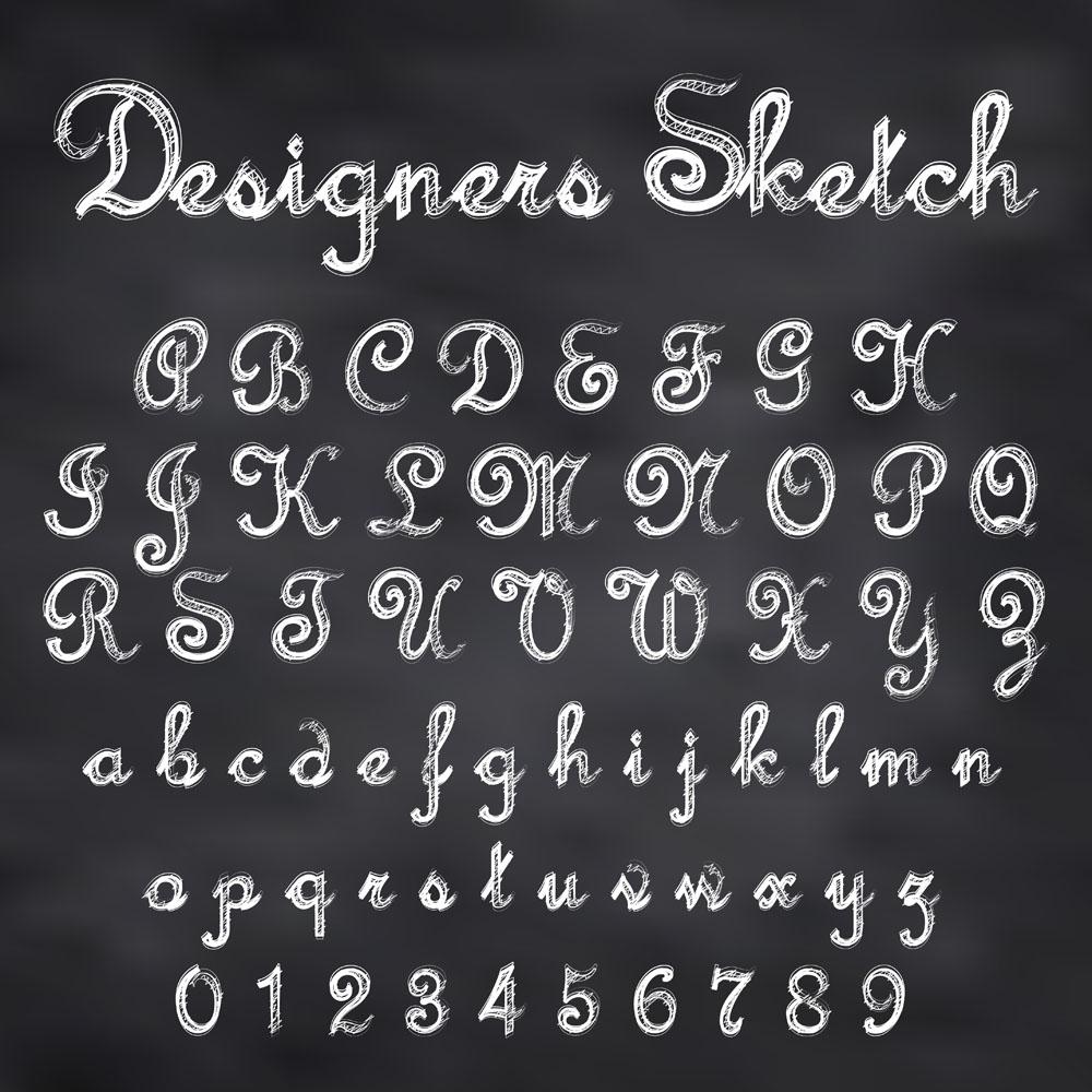26个英文字母,英文字体样式,个性时尚字母,字体字母设计,字母字体样式图片