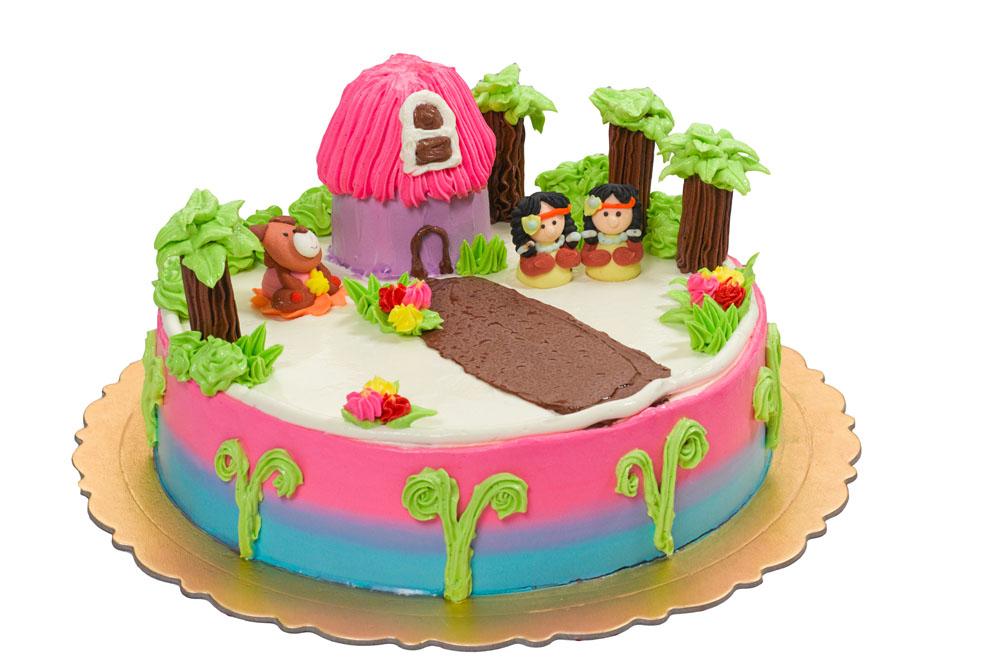 卡通房子树木蛋糕图片图片