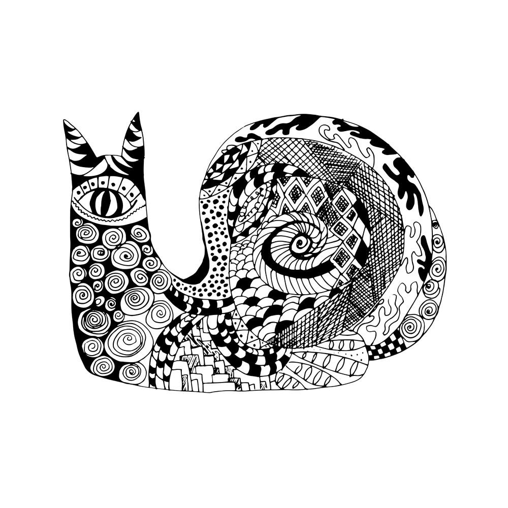 蜗牛纹身图案图片