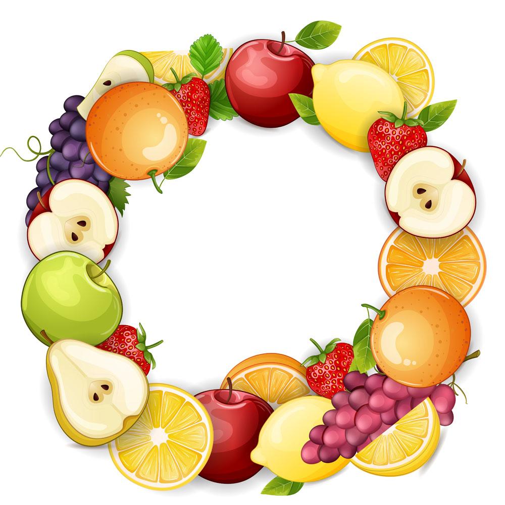 生活百科 餐饮美食 彩色卡通水果图片下载,苹果,葡萄,柠檬,梨子,卡通图片