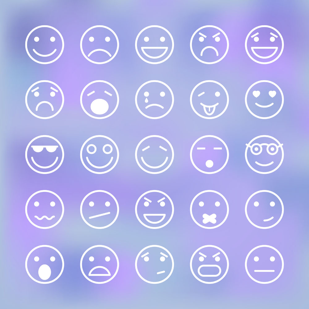 集图网 矢量素材 生活百科 其他 卡通圆形表情图标,微笑,卡通,表情图片
