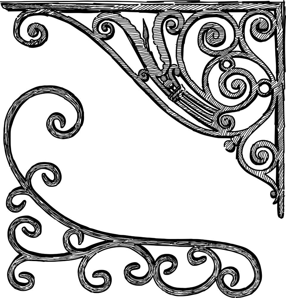 欧式边角装饰花纹图片图片