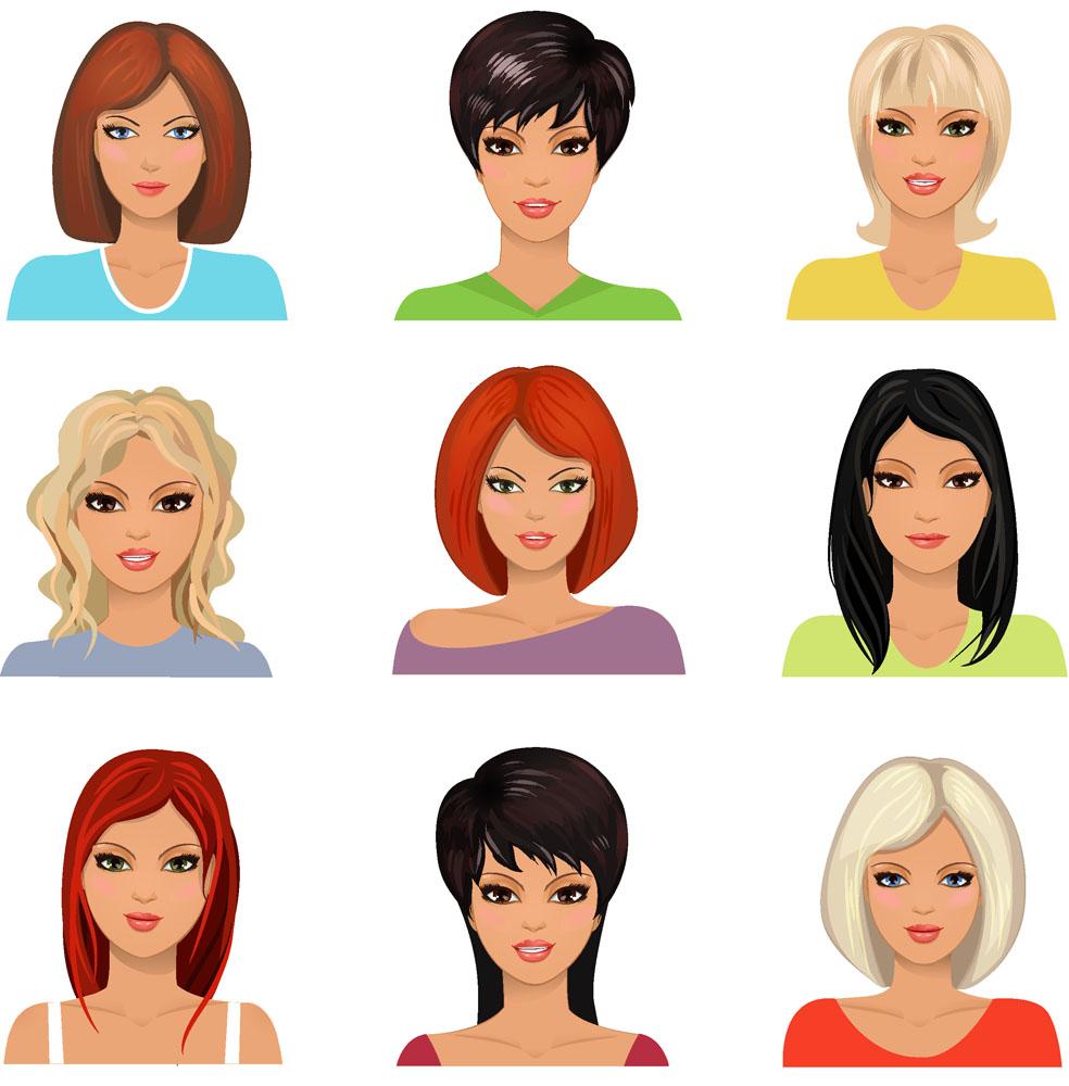 卡通女孩头像图片图片